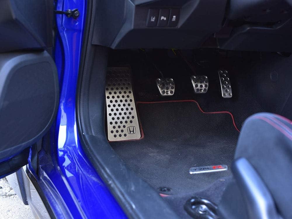 Fußstütze Stahlabdeckung Für Civic Ix Und Type R Iv Fk2 H Emblem 1 Stück Auto Sport Fußablage Fußpedal Pedal Edelstahl Gebürstet Auto