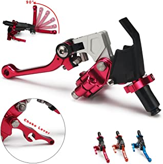 JFG RACING Red Adjustable Folding Extendable Clutch Perch Foldable Lever Assembly for Suzuki Yamaha For Honda Kawasaki Cable Clucth DRZ400SM KX250F KLX400 YZ125 YZ250 YZ250F