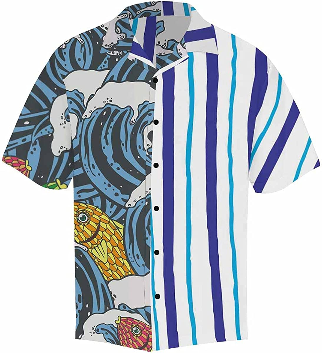 InterestPrint Men's Casual Button Down Popular popular Vintage Short Surprise price Skul Sleeve