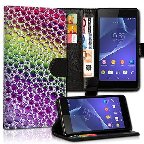 wicostar Book Style Wiko Rainbow Jam Premium PU-Leder Tasche Flip Brieftasche Handy Hülle Kartenfächer mit Standfunktion für Wiko Rainbow Jam - Design Flip MVC1