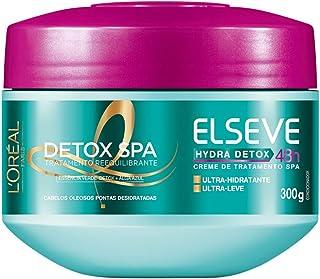Creme de Tratamento Hydra-Detox Elseve L'Oréal Paris 300 gr, L'Oréal Paris, Branco