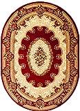 Carpeto Rugs Tapis Ovale Salon Rouge 150 x 295 cm Oriental/Iskander Collection