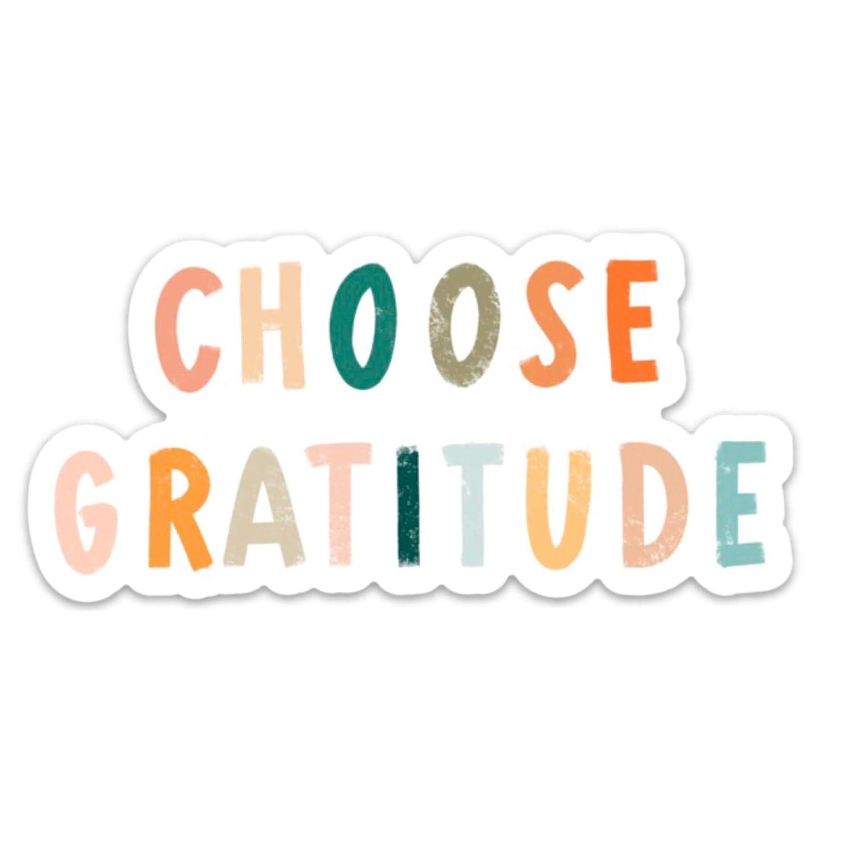 Max 63% OFF Choose gratitude inspirational quotes sticker Waterproof vinyl Fashionable