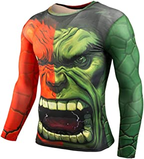 Dri-fit Workouts Tee Cool Thor Compression Shirt Long Sleeve Crewneck