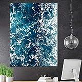 Nordische Wohnzimmer Dekoration Malerei Wandkunst Ozean Landschaft Malerei Neue Moderne rahmenlose Malerei 70cmX105cm
