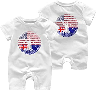 A1BY-5US Baby Infant Toddler Romper Jumpsuit American Grown with Italian Roots Cotton Long Sleeve Climb Romper