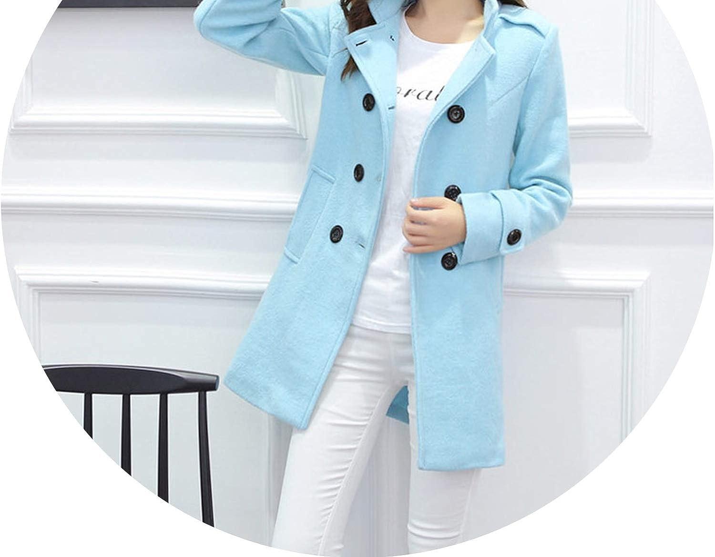 Elegant Woolen Winter Coats Double Breasted Wool Coat and Jacket Style Ladies Coats