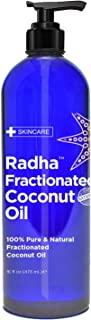 Radha Beauty Fractionated Coconut Oil - 100% Pure & Natural Carrier and Base Oil for Aromatherapy, Hair and Skin - Comes w...