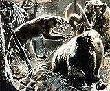 Lsping Puzzle Bimba 1000 pezzi Mamuts Cazadores de Renos y mamuts 50x70cm