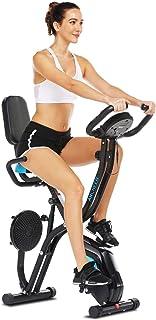 comprar comparacion ANCHEER Bicicleta Estática Plegable Bicicleta de Ejercicio 10 Niveles de Resistencia Magnética, con App, Soporte para Tabl...