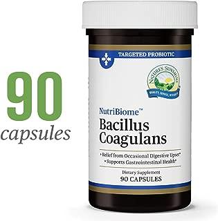 Nature's Sunshine Nutribiome Bacillus Coagulans Probiotics, 90 Capsules   3 Billion CFU of Bacillus Coagulans Probiotic Helps Defend Against Digestive Upset and Occasional Diarrhea, Gas and Bloating