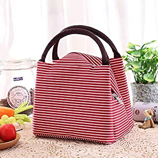 CHOUREN Lunch Box Portable Insulated Lunch Bag Thermal Food Picnic Lunch Bags For Women Kids,Variation:Red