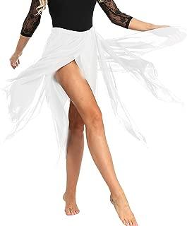 YiZYiF Women's Chiffon Handkerchief Hemline Dance Dress Flowy Asymmetrical Skirt