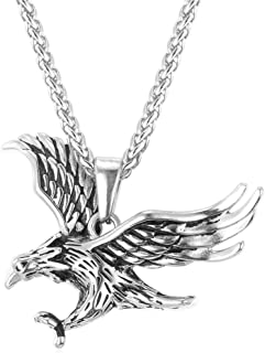 U7 Stainless Steel/18K Gold Plated Chain Cool King of The Sky Hawk Eagle Pendant Necklace