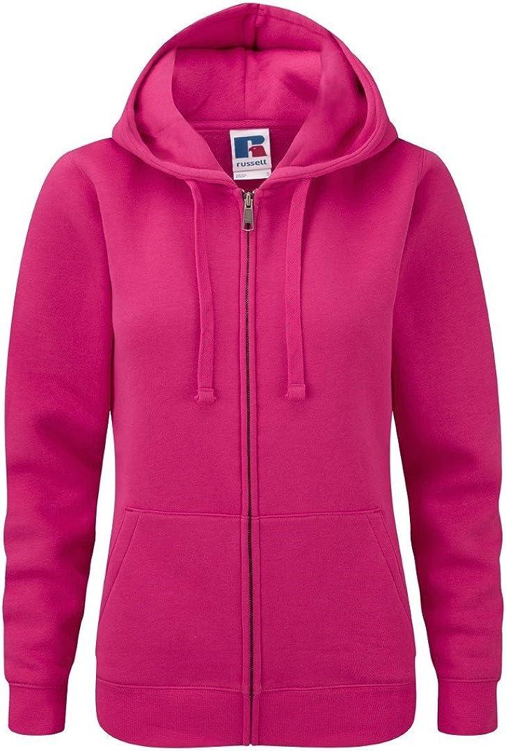 Russell Womens Authentic Zip Hoodie Workwear Sweatshirt