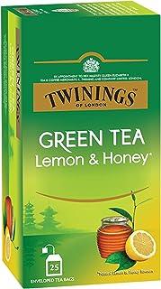 Twinings Green Tea Lemon & Honey, 25 Teabags, Green Tea, Sweet Honey & Tangy Lemon