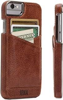 Sena Lugano Wallet, Leather wallet snap on case for iPhone 6 PLUS / 6s PLUS - Cognac