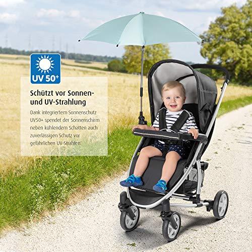reer ShineSafe Sonnenschirm für Kinderwagen, universal nutzbar, dreh- und neigbar, mint