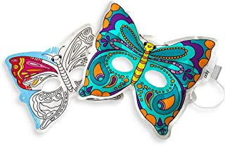 OOLY 3D Colorables - Breezy Butterfly Masks, Set of 2 (161-007)