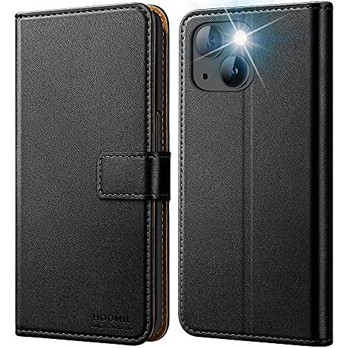 HOOMIL Kompatibel mit iPhone 13 Mini Hülle, Handyhülle für iPhone 13 Mini Klapphülle [Kartenfächer, Ständer] Stoßfeste Schutzhülle für iPhone 13 Mini Schwarz