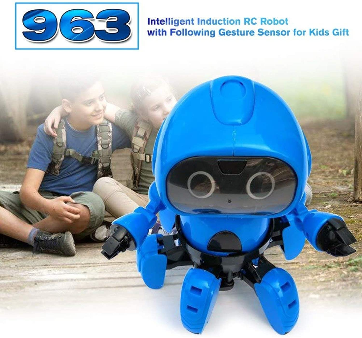 Generic Kids 963 Intelligent Induction RC Robot Toys Model with Following Gesture Sensor Obstacle Avoidance Baby Learning Toy Gift