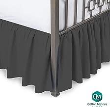 Cotton Metrics Linen Present 800TC Hotel Quality 100% Egyptian Cotton Dust Ruffle Bed Skirt 20