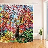 NNAYD1996 Pintura al óleo árbol de la Vida Impresión Digital a Prueba de Agua y Moho