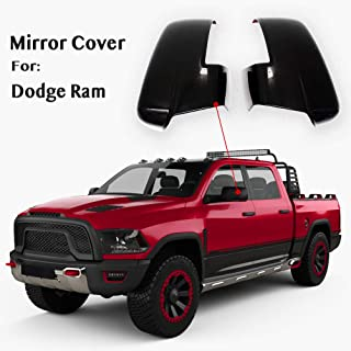 YOUNGERCAR Mirror Covers with Turn Signal Cut-Outs Gloss Black Compatible for 2013-2018 Dodge Ram 2500/3500/HD 2013-2018 Dodge Ram 1500