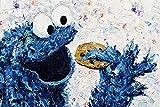 Kay Schleusner Lecker Kekse - 90 x 60 cm/Kunstdruck/Druck auf Leinwand/Pop Art/Kinderzimmer/Keilrahmen bespannt/XXL/Monster