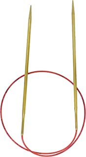 addi Knitting Needle Circular Lace Tip Brass Finish Skacel Exclusive Blue Cord 24 inch (60cm) Size US 03 (3.25mm)