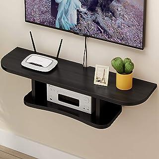 Los estantes flotantes Gabinete de soporte de TV flotante, consola de madera para sala de estar, sala de entretenimiento, ...