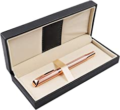 Penneed Rollerball Pen Gift Set for Women with Nice Box for Executive Office Birthday Gel Black Ink Pens Refillable 0.7mm G5 (Rose Gold)