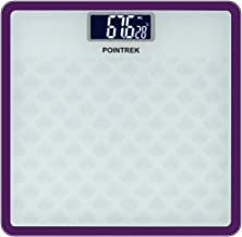 Pointrek Electronic Digital LCD Personal Health Body Fitness Weighing Scale (Square) Brown