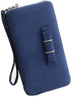 Aeeque Women Wallet Purse Clutch Ladies Handbag Wrist Strap Leather Phone Bag