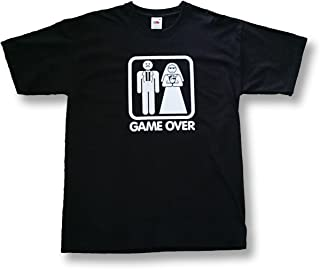 Fruit of the Loom Camiseta Game Over Addio Al celibato Boda Unisex