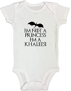 """Kids Game of Thrones Onesie Child """"Im Not a Princess Im a Khaleesi"""" Girls Bodysuit"""