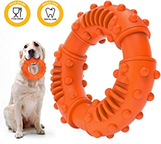 ABTOR Ultra Durable Dog Chew Toy - Toughest Natural Rubber - Texture Nub Dog Toys for All Aggressive Chewers Large Dogs Puppy - Fun to Chew, Dental Care, Training, Teething