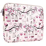 Plemo 15-15.6 Inch Laptop Sleeve Case Waterproof Canvas Fabric Bag for MacBook Pro / 15.6-Inch Laptops / Notebook, Pink