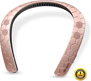 Wearable Speaker Doltech Bluetooth Neckband Speaker,3D Sound Hands-Free Phone Calls,Built-in Mic, Portable Wireless Speaker for iPhone, Android(Rose Gold)