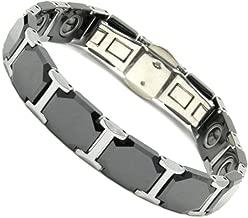 Rakii germanium bracelet ceramic hematite black
