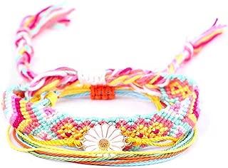 MengPa Friendship Bracelets Set Bohemian Beach Braided Rope Handmade Jewelry for Women