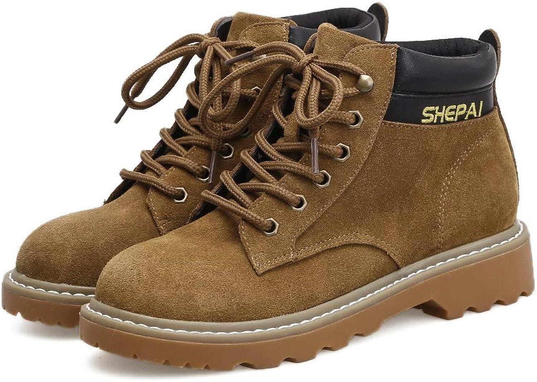 Top ShishangHerbst und Winter Modelle Martin Stiefel England Wilde Retro Tooling dicken Boden Plus Samt, braun, 38