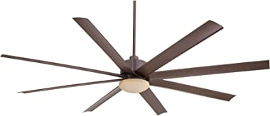 Minka Aire Slipstream 65 in. Integrated LED Indoor/Outdoor Oil Rubbed Bronze Ceiling Fan with Light and Remote Control