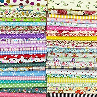 Customer reviews Misscrafts 25pcs Large 30cm*30cm TOP Cotton Craft Fabric Bundle Squares Patchwork Lint DIY Sewing Scrapbooking Quilting Dot Pattern Artcraft:Hashflur