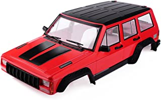 INJORA Red Painted Hard Plastic 12.3inch / 313mm Wheelbase Cherokee Body Car Shell for 1/10 RC Crawler Axial SCX10 & SCX10 II 90046 90047