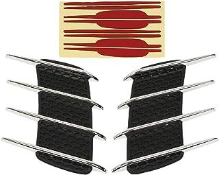 KIMISS ABS Car Bonnet Air Vent Modified Hood Air Venty Fits for RS MK2 Bright blackSI-AT26105