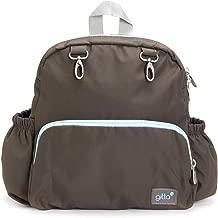 Gitta Mini Total Kids School Bag Child Infant Preschool Backpack, Brown and Light Blue