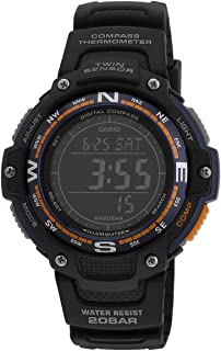 Casio Mens Quartz Watch, Digital Display and None Strap SGW-100-2BDR