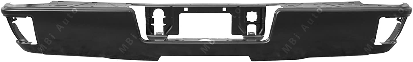 MBI AUTO - Painted to Match, Steel Rear Bumper Shell for 2014-2018 Chevy Silverado & GMC Sierra W/Steps 14-18, GM1102565
