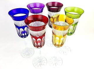 flautas de champán de cristal hechas a mano, Klein Baccarat France, 6 flautas (20 cl), flautas Roemer, firma Cristal Klein...